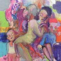 Les pêcheurs de sable, Priscille Deborah, artiste peintre expressionniste sensualiste