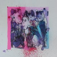 Métissage #XXIX, Priscille Deborah, artiste peintre expressionniste sensualiste
