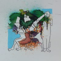 Métissage #XXVII, Priscille Deborah, artiste peintre expressionniste sensualiste