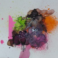 Métissage #XXVIII, Priscille Deborah, artiste peintre expressionniste sensualiste