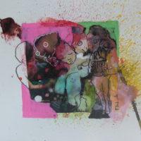 Métissage #XXX, Priscille Deborah, artiste peintre expressionniste sensualiste