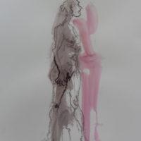 Séraphine #I, Priscille Deborah, artiste peintre expressionniste sensualiste