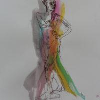 Séraphine #II, Priscille Deborah, artiste peintre expressionniste sensualiste