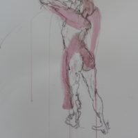 Séraphine #III, Priscille Deborah, artiste peintre expressionniste sensualiste