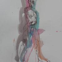 Séraphine #IV, Priscille Deborah, artiste peintre expressionniste sensualiste