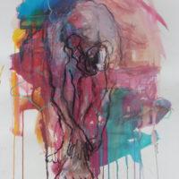 Séraphine #IX, Priscille Deborah, artiste peintre expressionniste sensualiste