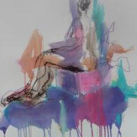 Séraphine #VI, Priscille Deborah, artiste peintre expressionniste sensualiste