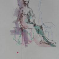 Séraphine #VII, Priscille Deborah, artiste peintre expressionniste sensualiste