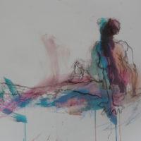 Séraphine #X, Priscille Deborah, artiste peintre expressionniste sensualiste