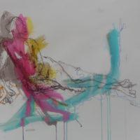 Séraphine #XI, Priscille Deborah, artiste peintre expressionniste sensualiste