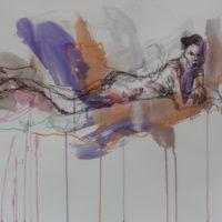Séraphine #XII, Priscille Deborah, artiste peintre expressionniste sensualiste