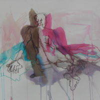 Séraphine #XIII, Priscille Deborah, artiste peintre expressionniste sensualiste