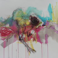 Séraphine #XIV, Priscille Deborah, artiste peintre expressionniste sensualiste