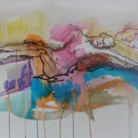 Séraphine #XVI, Priscille Deborah, artiste peintre expressionniste sensualiste
