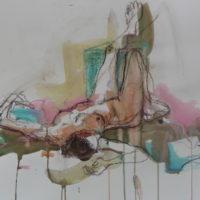 Séraphine #XVII, Priscille Deborah, artiste peintre expressionniste sensualiste