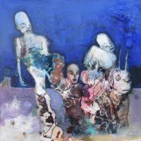 L'odyssée bleue, Priscille Deborah, artiste peintre expressionniste sensualiste