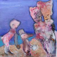 Monsieur le Vent et Madame la Pluie, Priscille Deborah, artiste peintre expressionniste sensualiste