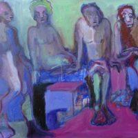 Les âmes soeurs #III, Priscille Deborah, artiste peintre expressionniste sensualiste