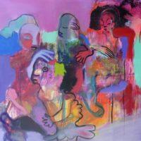 L'oiseau lyre, Priscille Deborah, artiste peintre expressionniste sensualiste