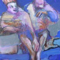 Vol de nuit, Priscille Deborah, artiste peintre expressionniste sensualiste