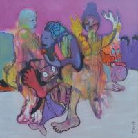 Le poisson-clown, Priscille Deborah, artiste peintre expressionniste sensualiste