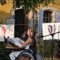 """Performance """"Sombre Printemps"""" (avec Marie Delmarès, Médoc)"""
