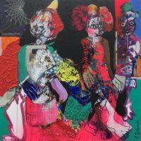Des fourmis dans les pieds, Priscille Deborah, artiste peintre expressionniste sensualiste