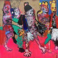 Le lion d'or, Priscille Deborah, artiste peintre expressionniste sensualiste