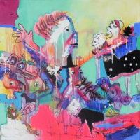 Conte à rebours #II, Priscille Deborah, artiste peintre expressionniste sensualiste