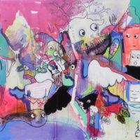 Conte à rebours #III, Priscille Deborah, artiste peintre expressionniste sensualiste