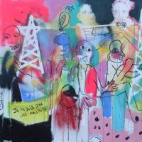 Entre les lignes n°1, Priscille Deborah, artiste peintre expressionniste sensualiste