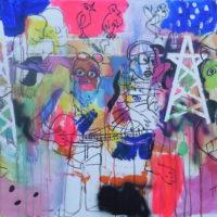 Entre les lignes n°2, Priscille Deborah, artiste peintre expressionniste sensualiste