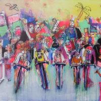 Jour de fête, Priscille Deborah, artiste peintre expressionniste sensualiste