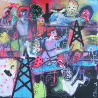 La tête dans les étoiles, Priscille Deborah, artiste peintre expressionniste sensualiste