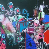 Oiseaux de nuit #II, Priscille Deborah, artiste peintre expressionniste sensualiste