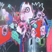 Oiseaux de nuit #III, Priscille Deborah, artiste peintre expressionniste sensualiste