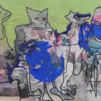 Les fugitifs #I, Priscille Deborah, artiste plasticienne expressionniste sensualiste