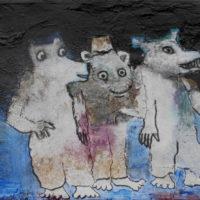 Les fugitifs #II, Priscille Deborah, artiste plasticienne expressionniste sensualiste