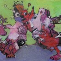 Les fugitifs #IV, Priscille Deborah, artiste plasticienne expressionniste sensualiste