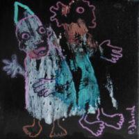 Les noctambules #II, Priscille Deborah, artiste plasticienne expressionniste sensualiste