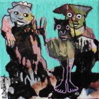 Les noctambules #IV, Priscille Deborah, artiste plasticienne expressionniste sensualiste