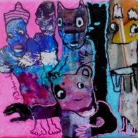 Les noctambules #XI, Priscille Deborah, artiste plasticienne expressionniste sensualiste