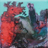 Les noctambules #XIV, Priscille Deborah, artiste plasticienne expressionniste sensualiste