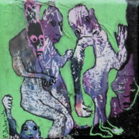 Les noctambules #XV, Priscille Deborah, artiste plasticienne expressionniste sensualiste