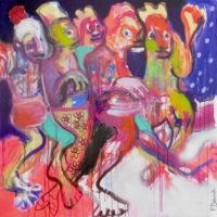 Le bal des indociles, Priscille Deborah, artiste plasticienne expressionniste sensualiste