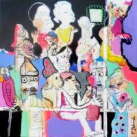 Les pas sages #II, Priscille Deborah, artiste plasticienne expressionniste sensualiste
