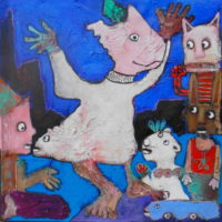 Objectif lune, Priscille Deborah, artiste plasticienne expressionniste sensualiste