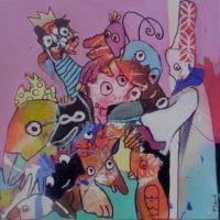 La girafe amoureuse, Priscille Deborah, artiste plasticienne expressionniste sensualiste