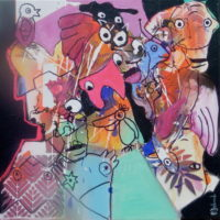 Le rêve de la vache-hibou, Priscille Deborah, artiste plasticienne expressionniste sensualiste
