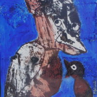 Les fugitifs#IX, Priscille Deborah, artiste plasticienne expressionniste sensualiste
